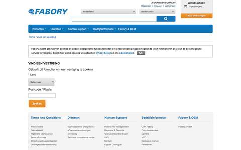 StoreFinder | Fabory Web Shop