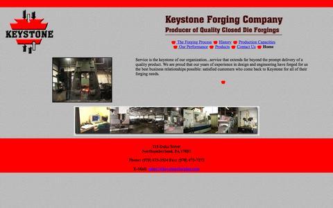 Screenshot of Home Page keystoneforging.com - Keystone Forging Home Page - captured Nov. 27, 2016