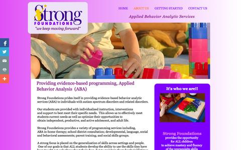 Screenshot of About Page strongfoundationsct.com - About Us: Strong Foundations, Tolland County, CT - captured Oct. 7, 2014