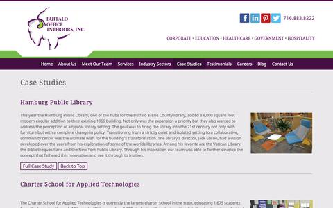 Screenshot of Case Studies Page boisite.com - Corporate Case Studies - Furnishing An Expanding Office   Buffalo Office Interiors - captured Oct. 7, 2018