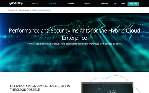 Performance and Security for the Hybrid Cloud Enterprise | ExtraHop