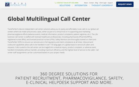 Global Multilingual Call Center | Trial Interactive