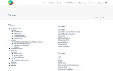 Screenshot of Site Map Page rbs-emea.com - Sitemap | RBS EMEA - captured Oct. 19, 2018