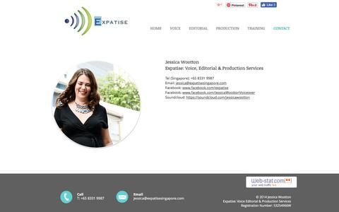 Screenshot of Contact Page expatisesingapore.com - EXPATISE: VOICE, EDITORIAL & PRODUCTION SERVICES - CONTACT - captured Nov. 14, 2016