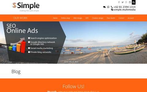 Screenshot of Blog simple.web.id - Blog - captured Nov. 30, 2016