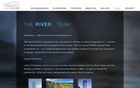 Screenshot of Team Page therivercalgary.com - Team | The River Calgary - captured Oct. 6, 2014
