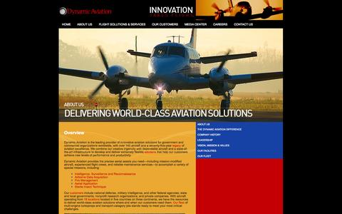 Screenshot of About Page dynamicaviation.com - Dynamic Aviation :: About Us - captured Sept. 30, 2014