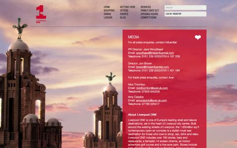 Screenshot of Press Page liverpool-one.com - Media   Liverpool ONE - captured Dec. 12, 2015
