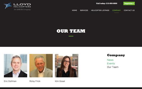 Screenshot of Team Page lloydhelicopters.com - Our Team | Lloyd Helicopters - captured July 22, 2018