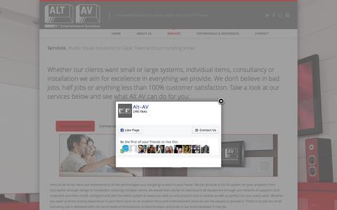 Screenshot of Services Page alt-av.co.za - Services | Alt AV - captured Feb. 5, 2016