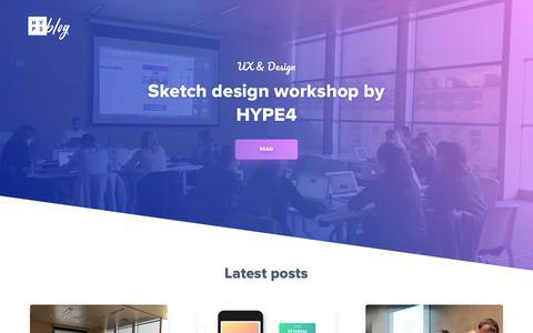 Screenshot of Blog hype4.com - Building great digital products - Hype4 Blog - captured July 15, 2018