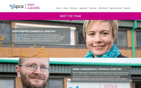 Screenshot of Team Page onyxipca.com - Team | About Us | Onyx Scientific |IPCA - captured Dec. 3, 2016