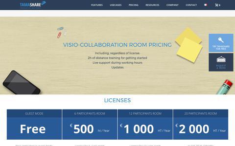 Screenshot of Pricing Page tamashare.com - Pricing - Tamashare - captured Oct. 27, 2017