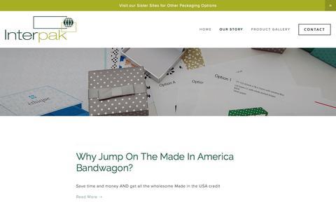 Screenshot of Blog interpak.com - Blog — International Packaging Corp. - captured Jan. 17, 2018