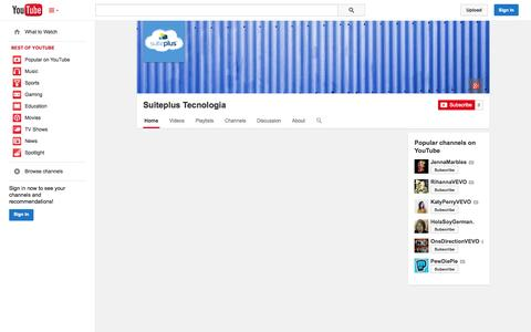 Screenshot of YouTube Page youtube.com - Suiteplus Tecnologia  - YouTube - captured Nov. 4, 2014