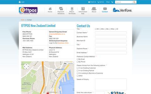 Screenshot of Contact Page eftpos.co.nz - Contact EFTPOS NZ | EFTPOS New Zealand - captured Oct. 1, 2014