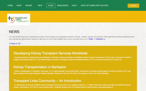 Screenshot of Press Page transplantlinks.org - Transplant Links Community charity latest news - captured Sept. 21, 2018