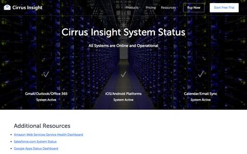 Cirrus Insight System Status - Cirrus Insight