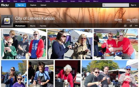 Screenshot of Flickr Page flickr.com - Flickr: City of Lenexa, Kansas' Photostream - captured Oct. 22, 2014