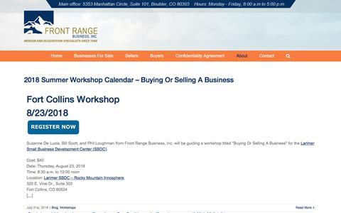 Screenshot of Blog frontrangebusiness.com - Blog | Front Range Business, Inc. - captured Sept. 24, 2018