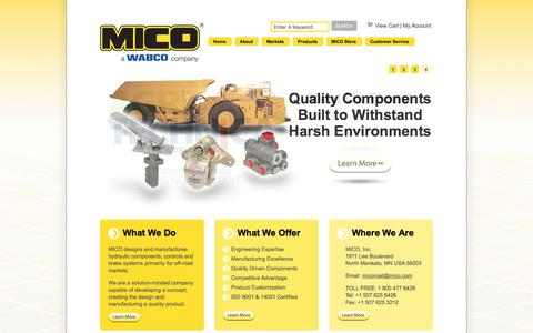 MICO designs, manufacturers, and sells quality hydraulic components and brake systems for heavy duty, off-road vehicles and equipment. | MICO, Inc.