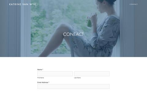 Screenshot of Contact Page katrinevanwyk.com - CONTACT — Katrine van Wyk - captured July 6, 2017
