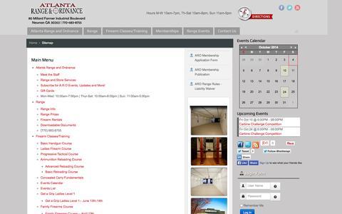 Screenshot of Site Map Page atlantagunrange.com captured Oct. 4, 2014