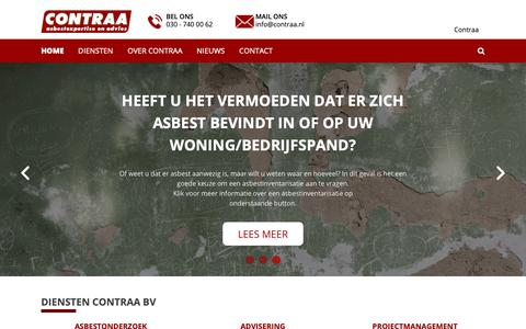 Screenshot of Home Page contraa.nl - Home - Contraa - captured Dec. 8, 2018