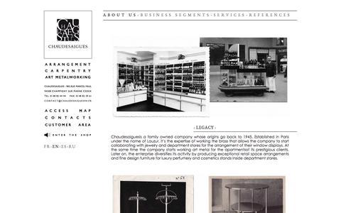 Screenshot of About Page chaudesaigues94.com - Histoire - Chaudesaigues - captured Oct. 2, 2014