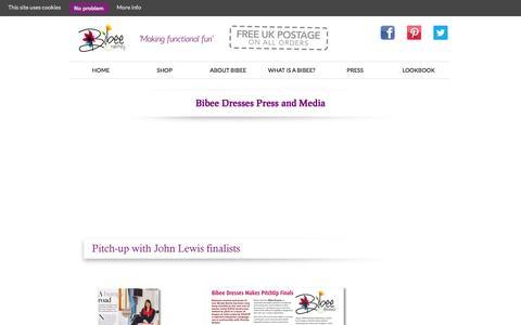 Screenshot of Press Page bibeedresses.co.uk - Press - Bibee Dresses - captured Sept. 30, 2014