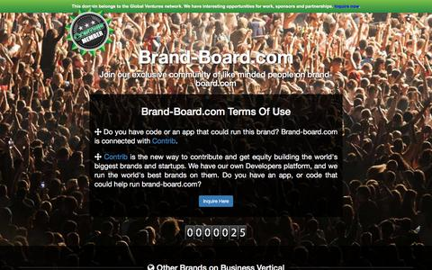 Screenshot of Developers Page brand-board.com - Welcome to brand-board.com - captured July 30, 2016