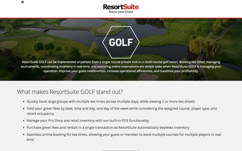 Golf Management Software for Hotels and Resorts | ResortSuite