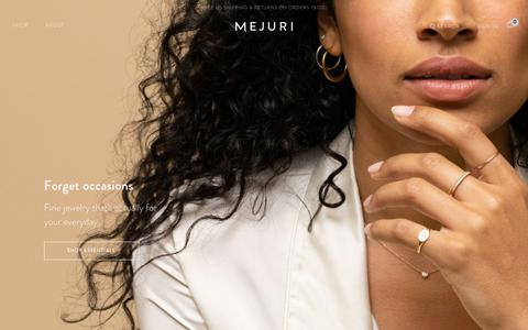 Screenshot of Home Page mejuri.com - Mejuri | Everyday Fine Jewelry minus the traditional markups. - captured Nov. 17, 2018