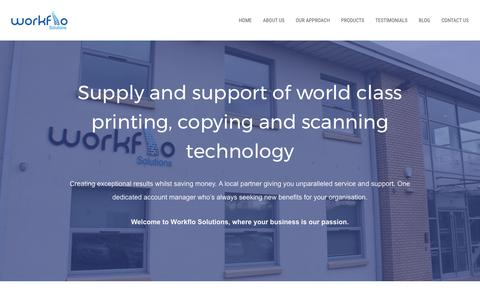 Screenshot of Home Page workflo-solutions.co.uk - Photocopy, print and scan technology | Scotland, Edinburgh, Glasgow - captured Nov. 6, 2017
