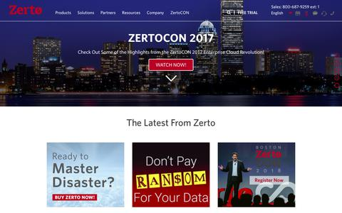 Zerto: Disaster Recovery (DR) & Virtual Data Replication Software