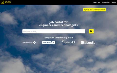 Screenshot of Home Page tujobs.com - Find a Job in the Oil, Gas and Subsea industry - Find Offshore or Oilfield jobs at Tujobs - captured Jan. 12, 2016