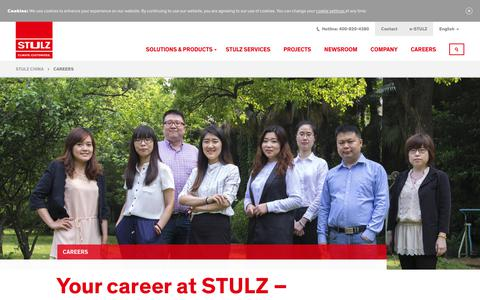 Screenshot of Jobs Page stulz.cn - Careers | STULZ - captured Nov. 27, 2018