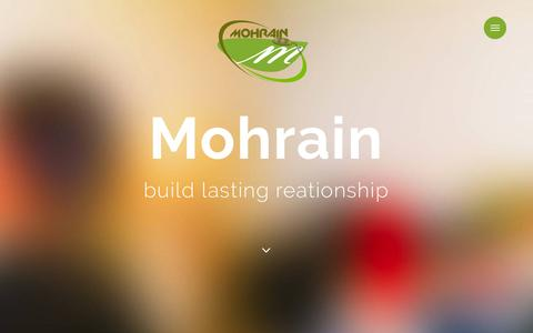 Screenshot of Home Page mohrain.com - Mohrain | Software Company | Web Agency | Website | Mobile App | Web App | Kailali, Dhangadi, Nepal - captured Dec. 22, 2016