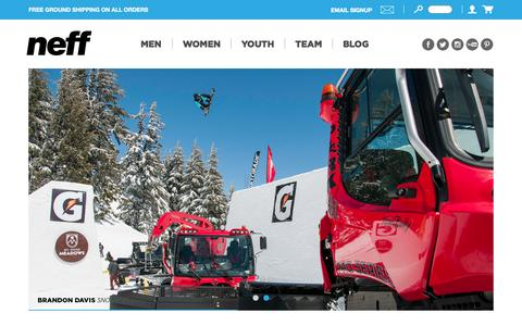 Screenshot of Team Page neffheadwear.com - Snow | Neff Headwear - captured Sept. 23, 2014