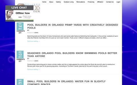 Screenshot of Blog orlandopoolsbydesign.com - Blog - captured Oct. 9, 2014