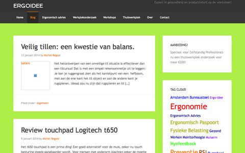 Screenshot of Blog ergoidee.nl - Blog - Ergoidee - captured Sept. 30, 2014