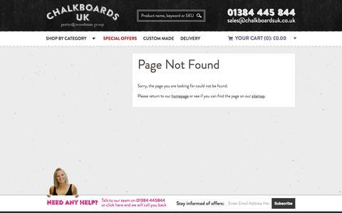 Screenshot of Site Map Page chalkboardsuk.co.uk - Chalkboards UK - Blackboards, Chalkboards and Retail Display manufacturer - captured July 20, 2015