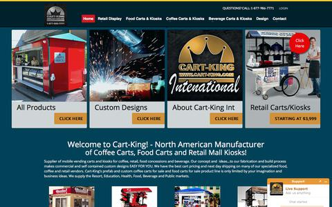 Screenshot of Home Page cart-king.com - Coffee Carts, Food Carts | Beverage & Retail Concessions - captured Feb. 5, 2018