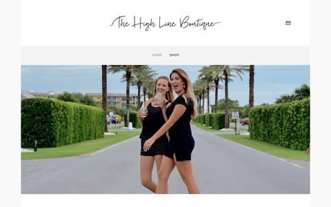 Screenshot of Home Page thehighlineboutique.com - The High Line Boutique - captured Aug. 10, 2017