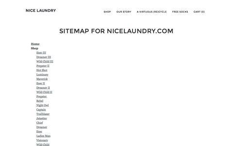 Screenshot of Site Map Page nicelaundry.com - Sitemap | NICE LAUNDRY | NICE LAUNDRY - captured Nov. 1, 2014