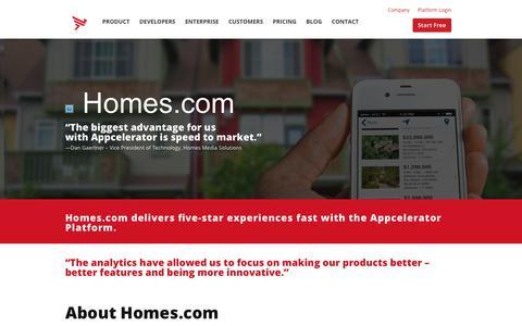 Screenshot of Case Studies Page appcelerator.com - Homes.com Case Study | Appcelerator - captured Dec. 29, 2017