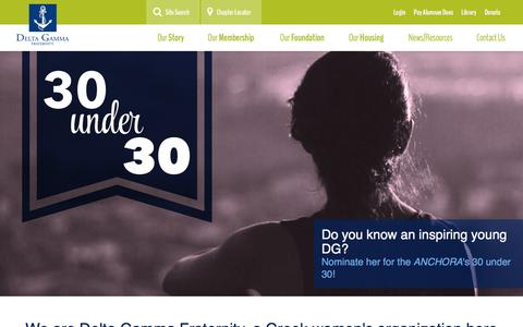 Screenshot of Home Page deltagamma.org - Delta Gamma - captured Jan. 7, 2016