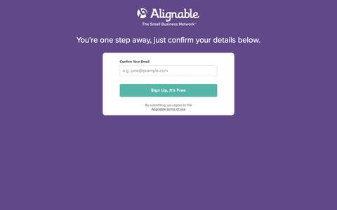 Screenshot of Signup Page alignable.com - Join Alignable - captured Nov. 17, 2018