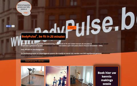 Screenshot of Home Page bodypulse.be - BodyPulse - captured Sept. 30, 2014