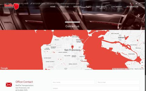 Screenshot of Contact Page redtietransportation.com - Contact us | RedTie Transportation San Francisco - captured Dec. 13, 2016